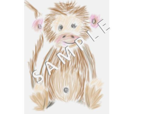 Monkey Watercolor Single Sample Jpeg