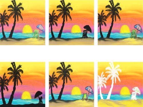 SunSet Beach Scene Display JPEG