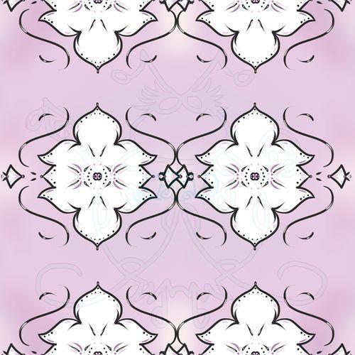 White Flower on Light Purple Sample JPEG 6x6 300dpi