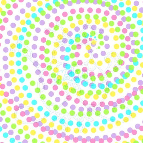 Colorful Polka Dot Swirl Sample JPEG 6x6 300dpi