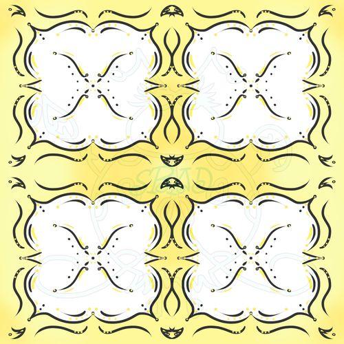 White Flower on Yellow Sample JPEG 6x6 300dpi