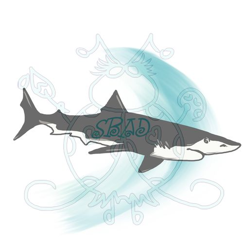 Shark with Water Sample JPEG 6x6 300dpi